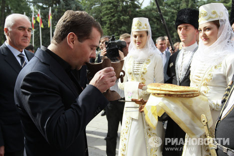 Посета Медведева Ј. Осетији
