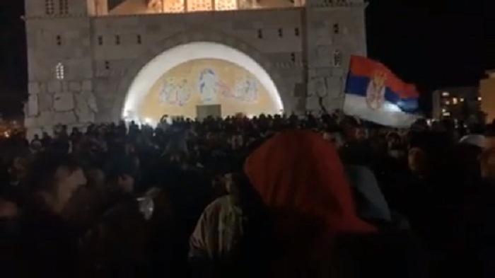 Више стотина грађана протестује у центру Подгорице