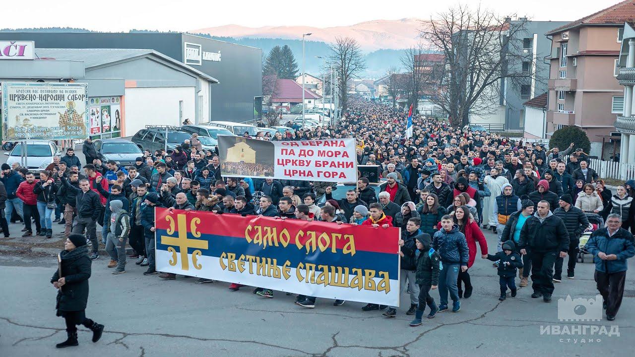 Свенародна литија у Беранама: Ова наша борба је за све и свакога у Црној Гори