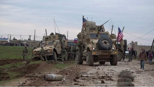Напад на америчку војну колону у Сирији