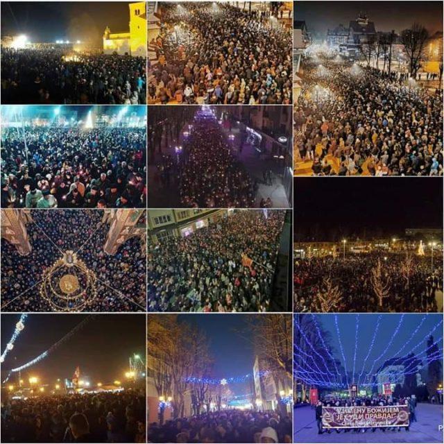 Десетине хиљада грађана Црне Горе у литијиама широм земље