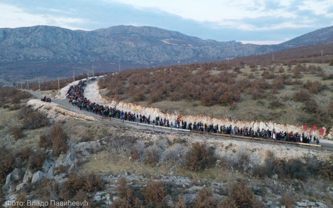 Вјерни народ Куча литијски од Орљева до Подгорице