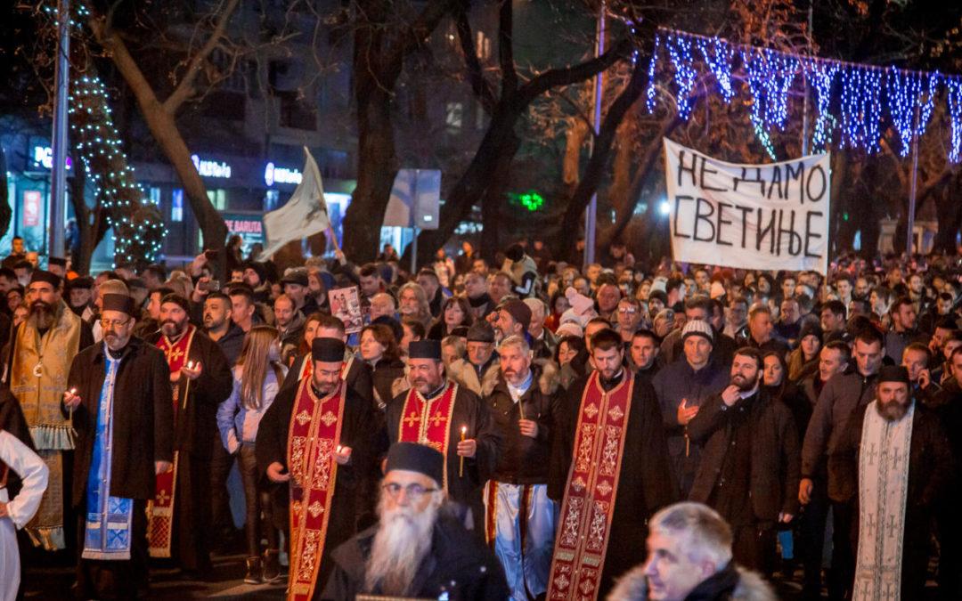 Владика Методије предводио литију у Подгорици: Позовимо сву нашу браћу на трпезу љубави и пут слободе