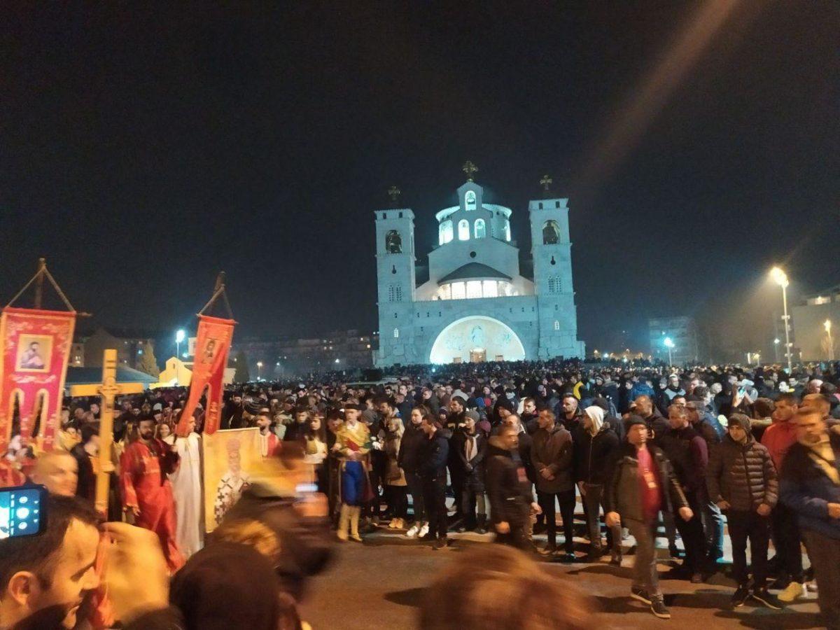 Хиљаде грађана Подгорице вечерас присуствовало молебану и литији
