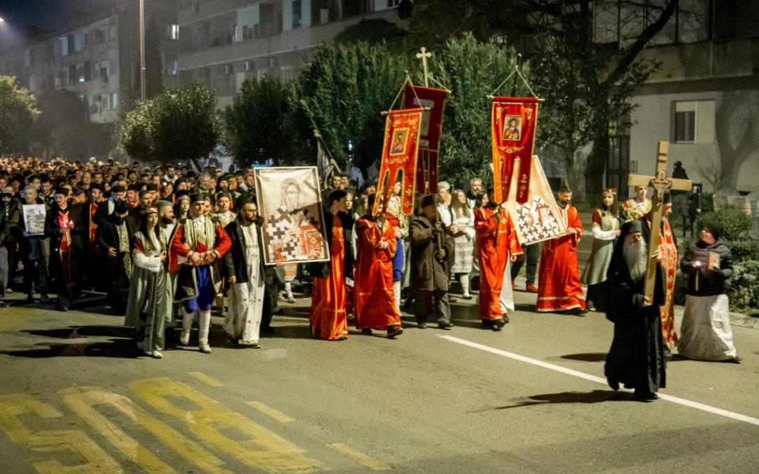 Митрополит Амфилохије вечерас предводи литију улицама Подгорице