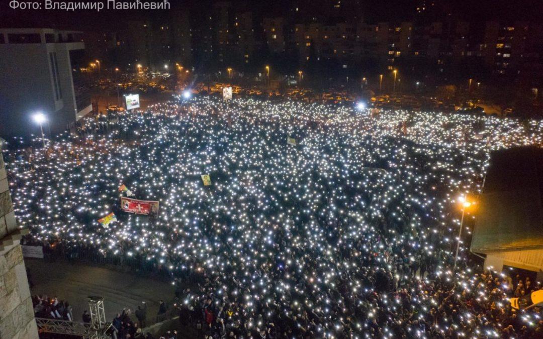 Vladika Teodosije u Podgorici: Ovde smo da potvrdimo da smo dostojni potomci naših predaka