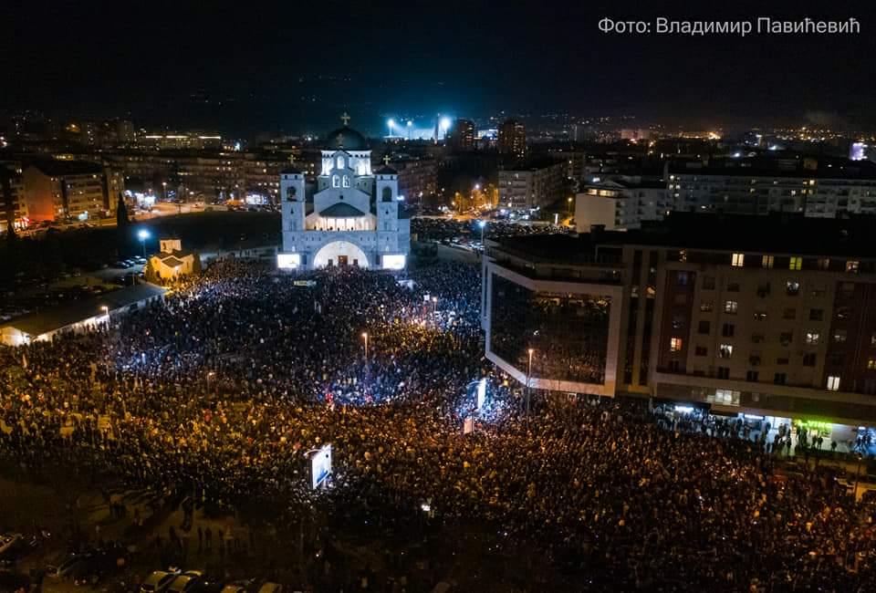 Литија у Подгорици: Светиње нам говоре ко смо били, шта јесмо и шта треба да будемо