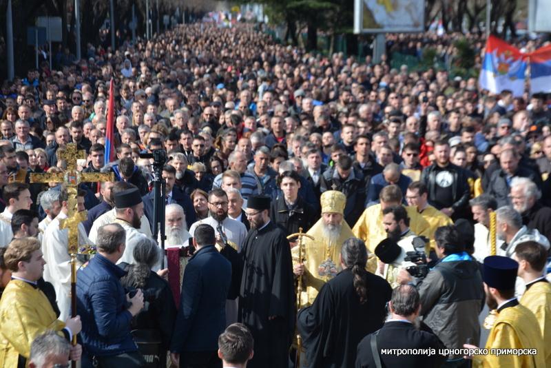 Митрополија: У Светосимеоновској литији у Подгорици око 100 000 вјерника