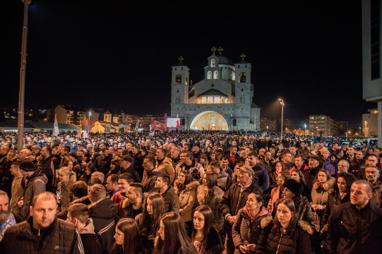 Литија у Подгорици: Па шта би то Црна Гора била да није наших светих предака који су знали шта је људско достојанство