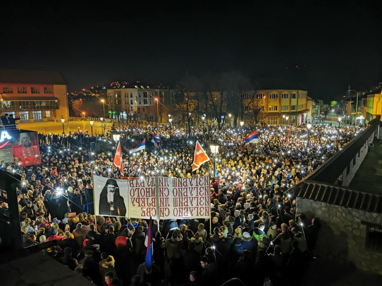 Литија у Пљевљима: Пошто је Скупштина владајуће већине застранила и отуђила се од свог народа ми смо сазвали ову народну скупштину, ову литију, која заседа, која ходи кроз све градове Црне Горе