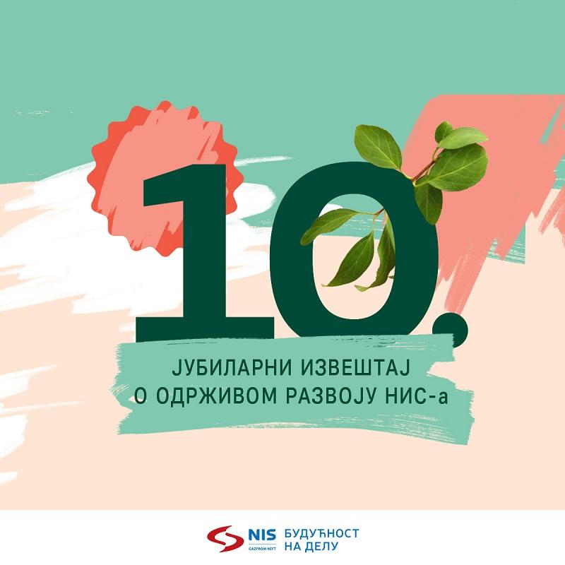 Kompanija NIS objavila deseti Izveštaj o održivom razvoju