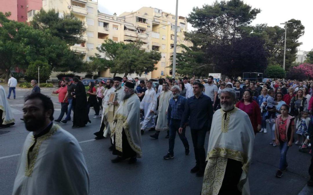 Улицама Бара прошла литија Светог Јована Владимира