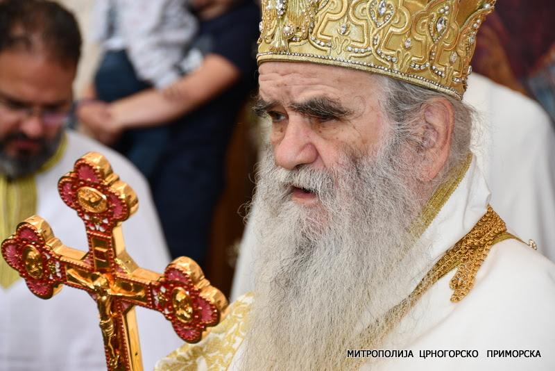 Митрополит Амфилохије у манастиру Стањевићи: Ова светиња се обнавља силом Духа Светога