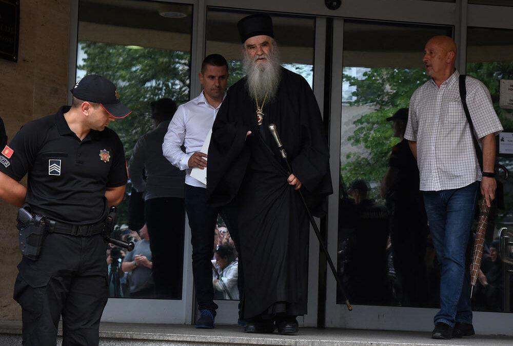 Митрополит Амфилохије након шест сати изашао из подгоричког Центра безбједности