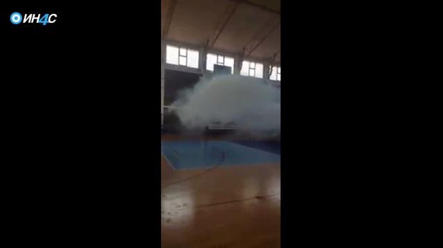 Полиција Црне Горе убацила сузавац у спортску салу током тренинга деце