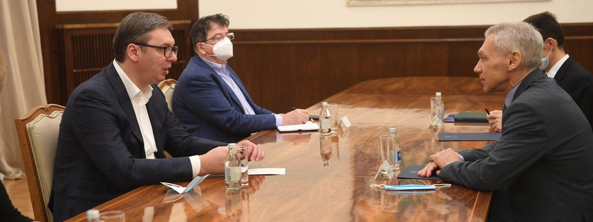Вучић и Харченко разговарали о билатералним односима и регионалној ситуацији