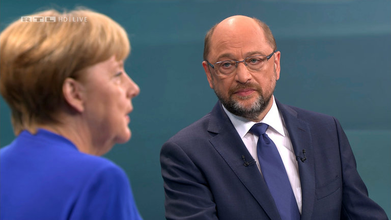 Меркелова и Шулц одржали предизборни телевизијски дуел
