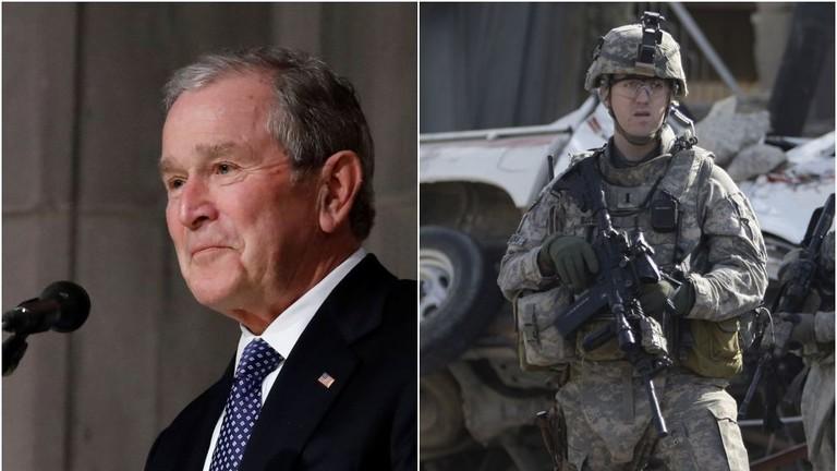 """РТ: Границе се морају """"поштовати"""", каже Џорџ Буш који је бомбардовао најмање четири државе"""
