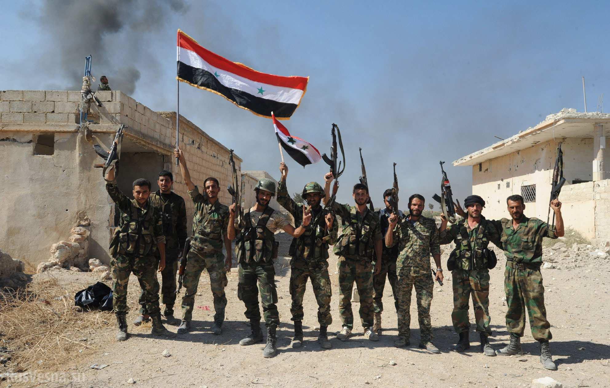 Сиријске снаге уз подршку руске авијације настављају да гоне терористе дуж обале Еуфрата