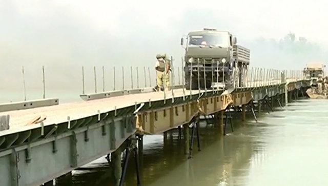Уништен руски понтонски мост преко Еуфрата у Сирији