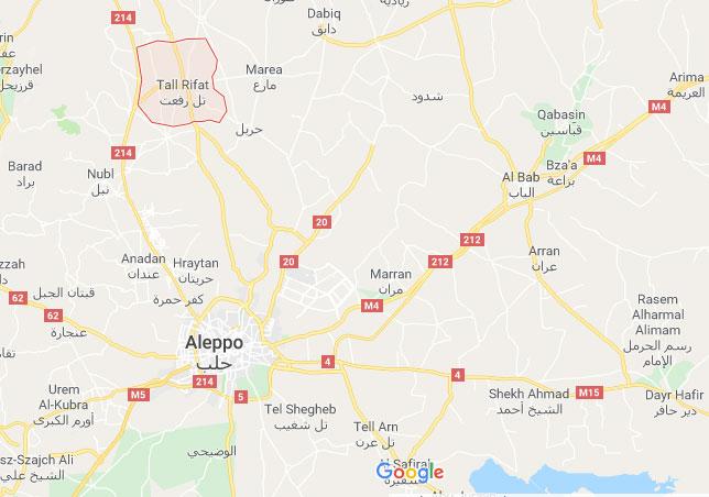 Контролу над градом Тел Рифатом преузеђе сиријска војска