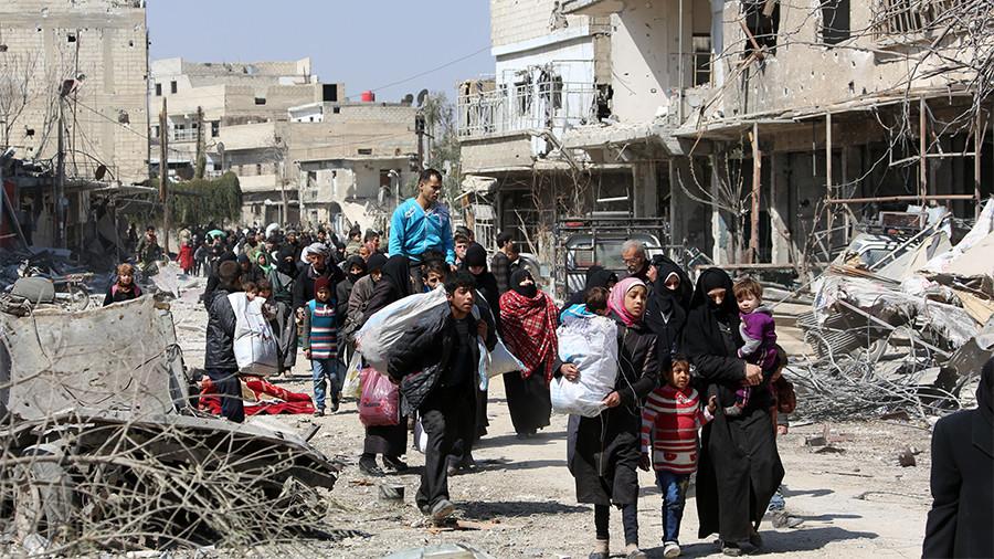РТ: Хиљаде цивила напушта Источну Гуту