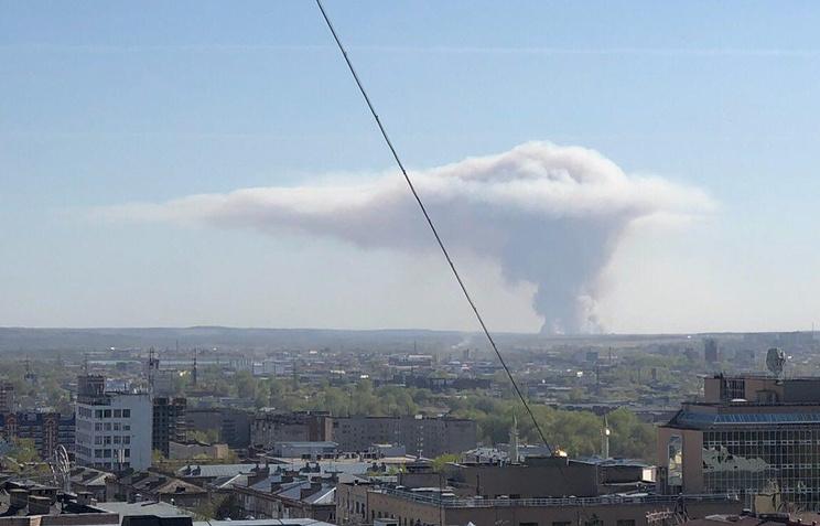 Евакуација две хиљаде људи због експлозије у складишту муниције у Удмуртији