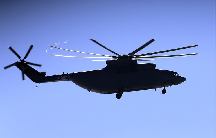 Helikopter Mi-26 opremljen sa odbrambenim kompleksom