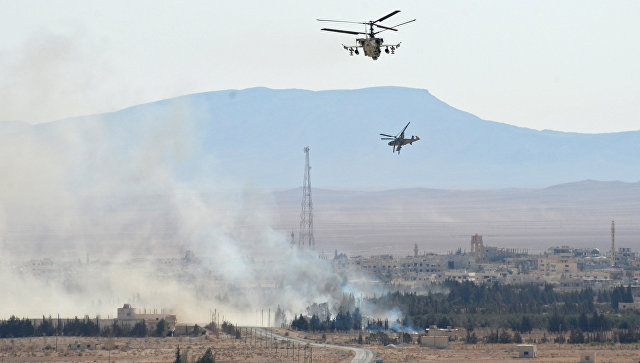 """Хеликоптер """"Ка-52"""" са посадом се вратио из Сирије"""