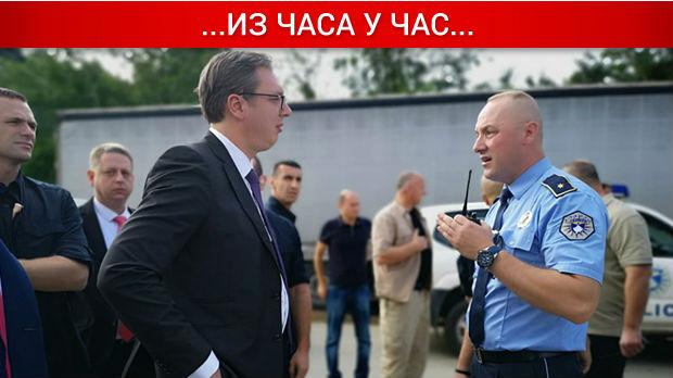Полиција спречила Вучића да стигне у Бање, мештанима се обратио телефоном