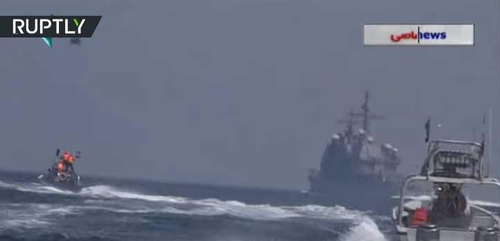 Иран објавио видео снимак потере глисера за америчким носачем авиона