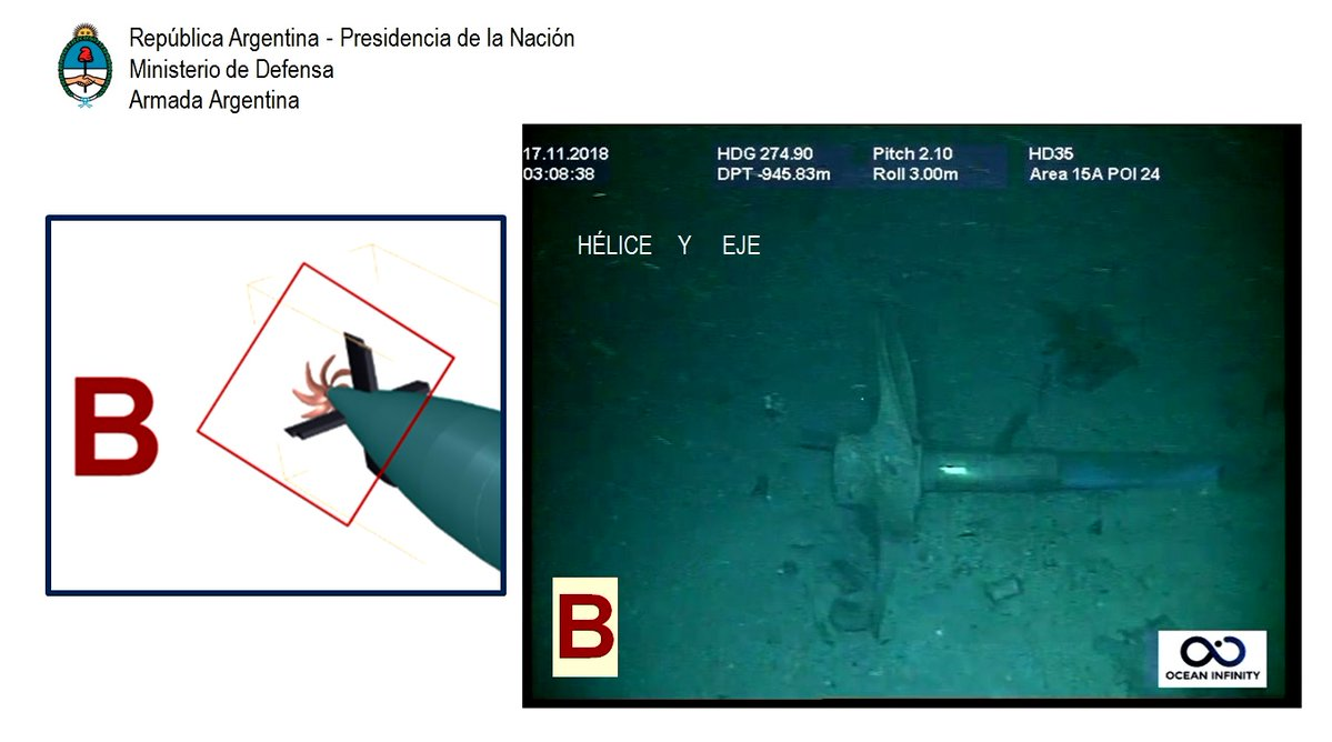 """Аргентинска морнарица објавила фотографије потонуле подморнице """"Сан Хуан"""""""