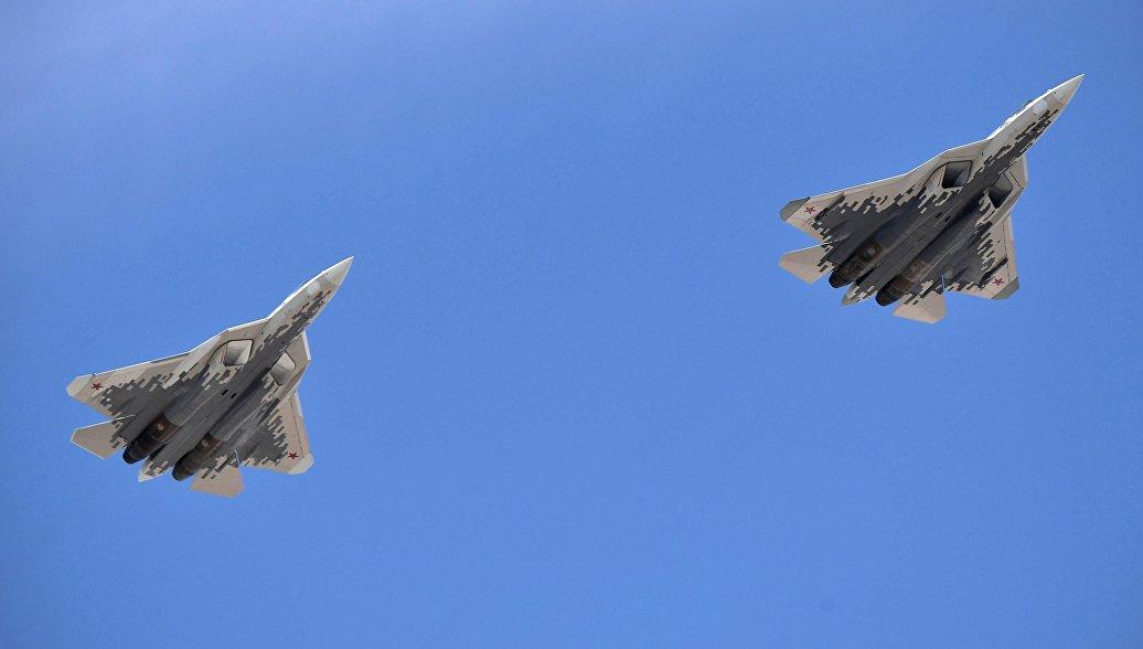 Авиони Су-57 на сиријском небу