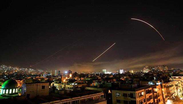 Дејство сиријске ПВО током синоћњег ваздушног напада