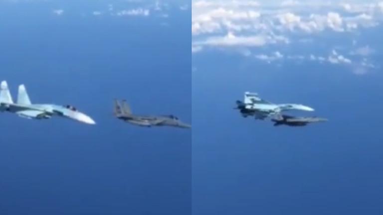 РТ: Руски Су-27 отерао амерички Ф-15 у смелом маневру