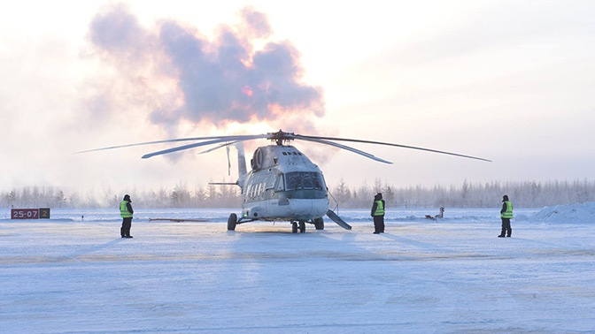 Руска војска тестирала хеликоптер Ми-38 при температури од минус 45 степени Целзијуса, пренели су руски медији.