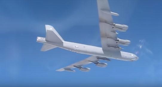 Руски ловци Су-27 пресрели амерички бомбардер Б-52