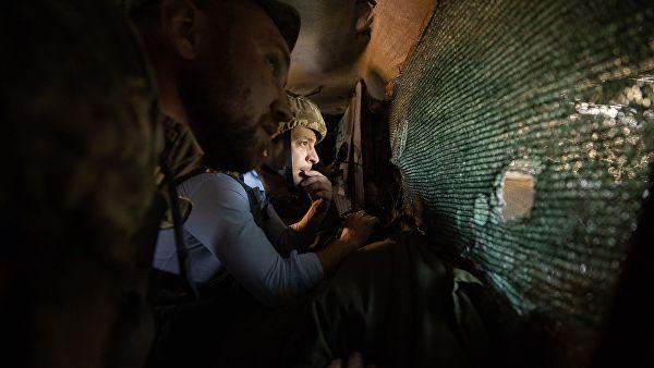 Зеленски посетио линију фронта у Донбасу