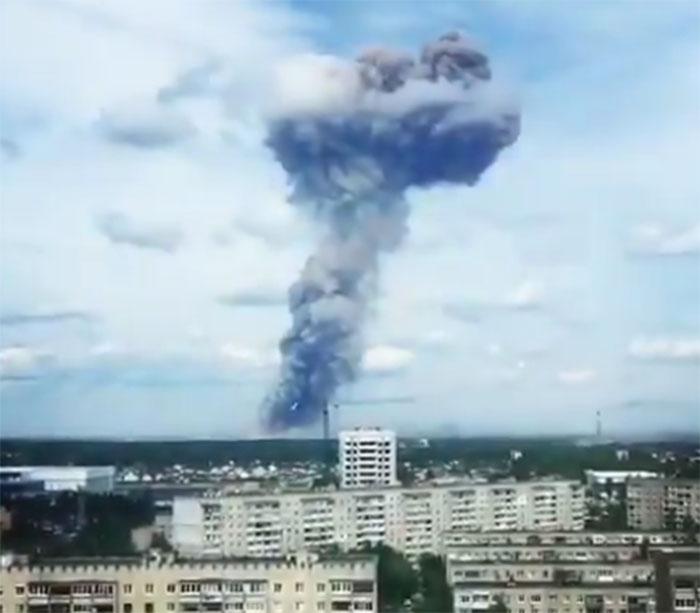 Експлозија у фабрици екплозива у Русији