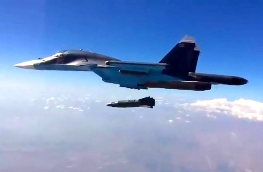 Dejstvo teške ruske navođene bombe u Siriji