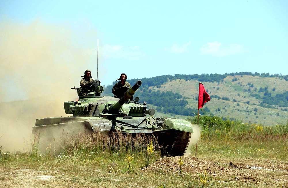 Припреме тенковсих посада Војске Србије за Тенковски биатлон у Русији