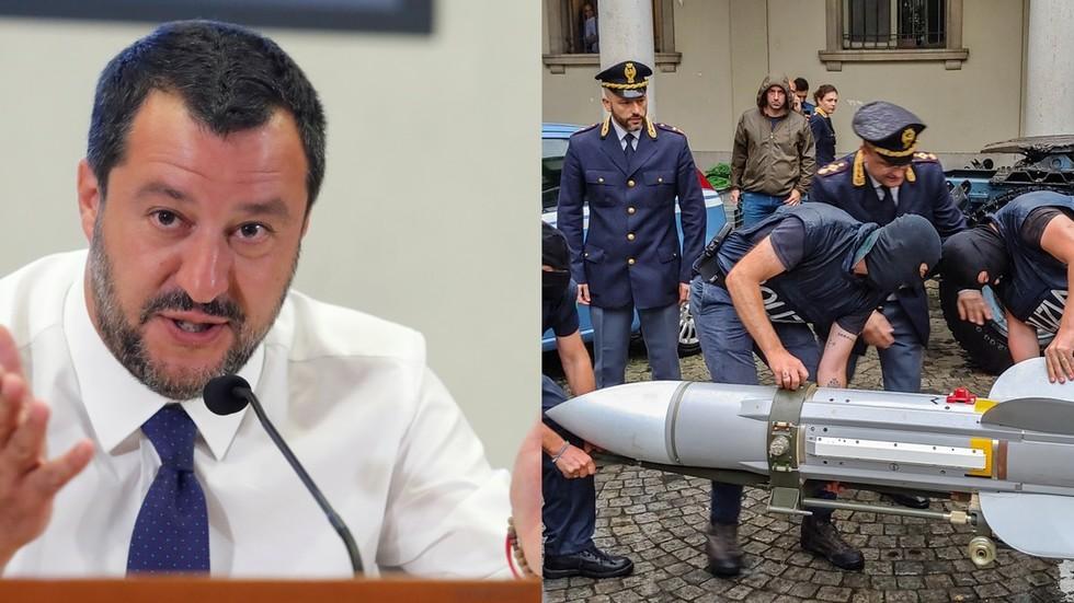 РТ: Претње смрћу Салвинију довеле до украјинске неонацистичке групе са ракетом ваздух-ваздух