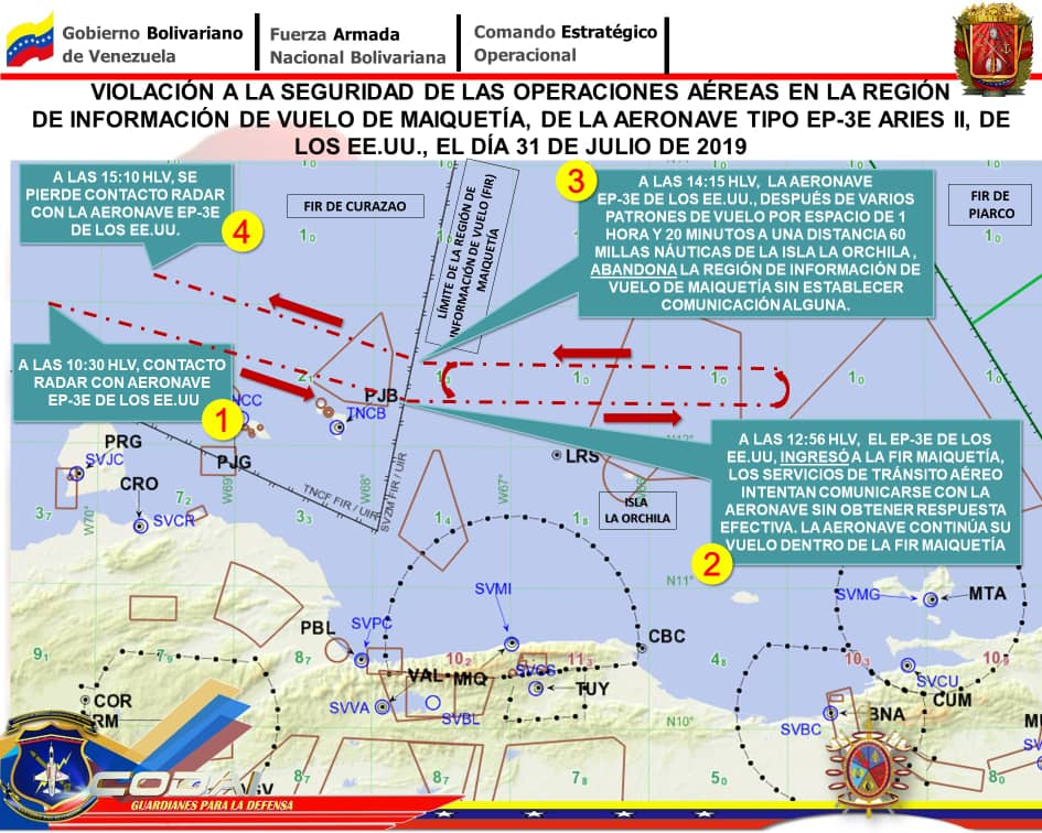 Амерички авион поново нарушио ваздушни простор Венецуеле