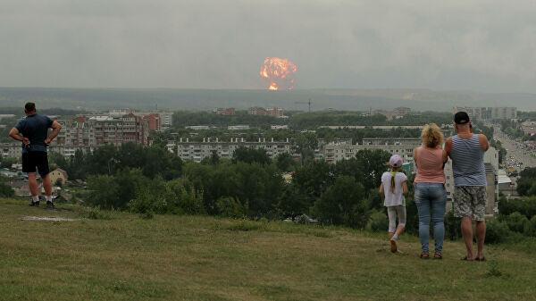 Експлозија у складишту муниције у Краснојарском крају
