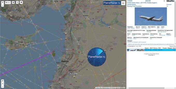 Амерички војни извршио извиђачки лет недалеко од руске базе у Сирији