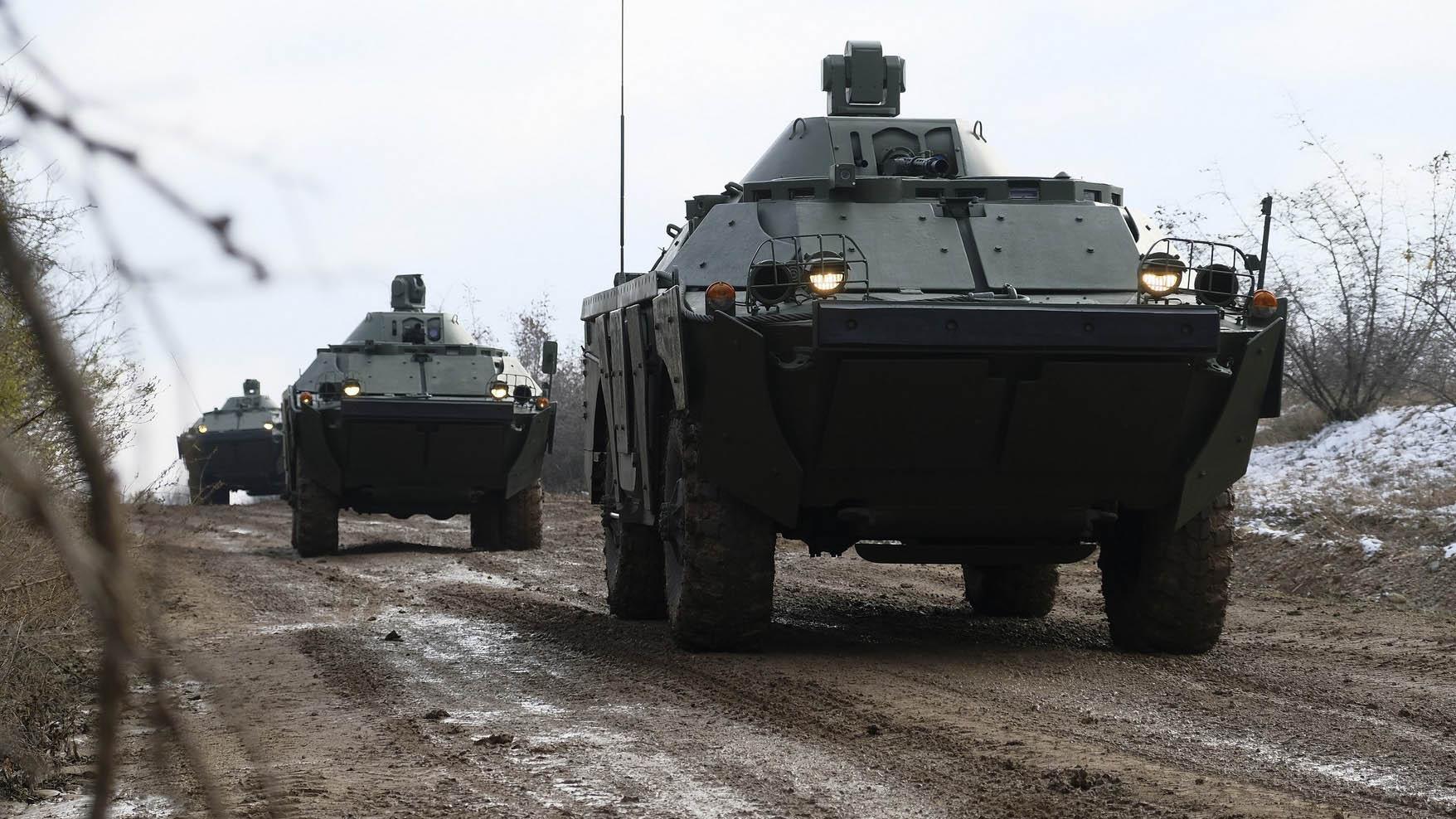"""Обука на оклопним возилима """"Лазар 3"""" и БРДМ-2МС"""