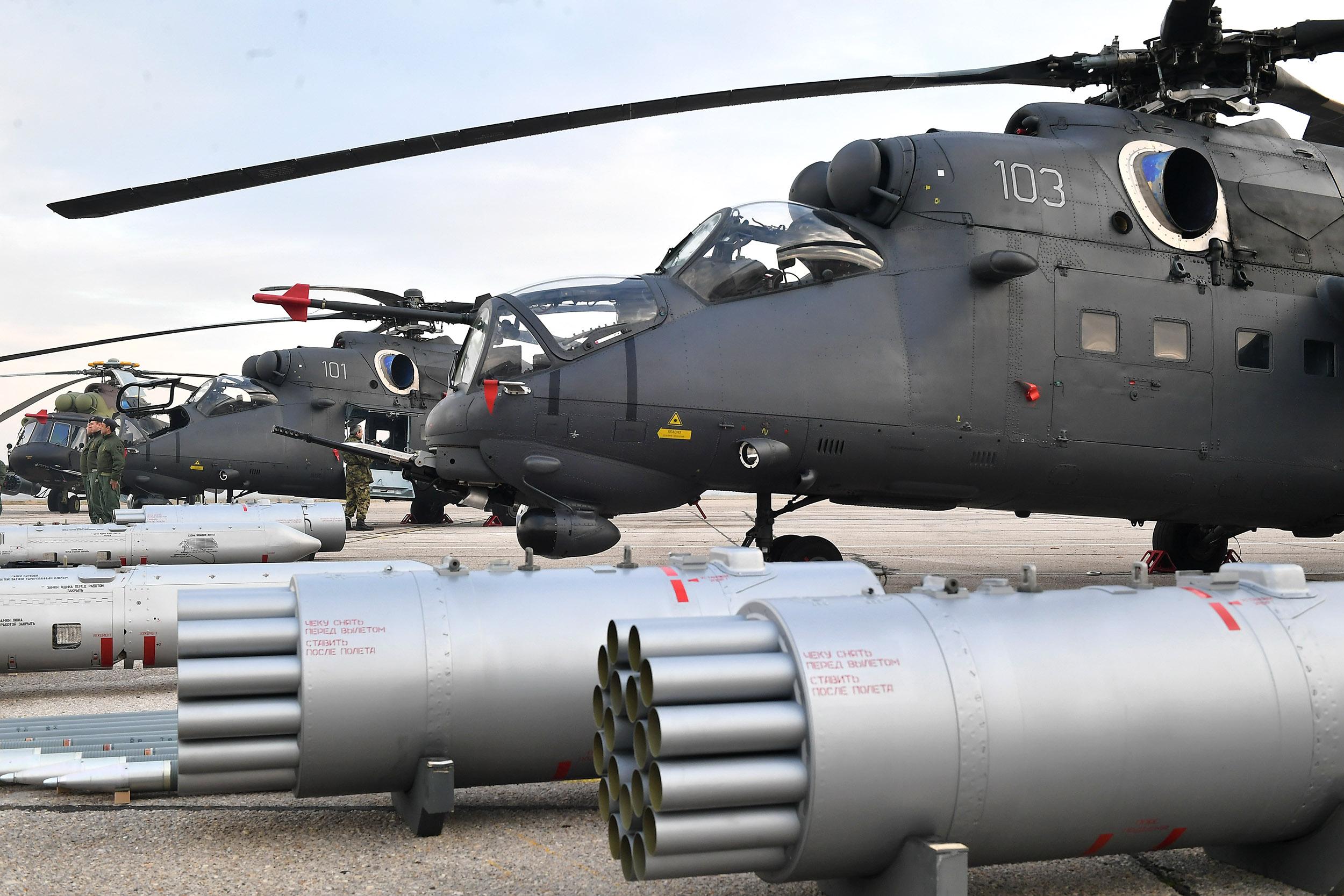 Приказ нових хеликоптера Војске Србије