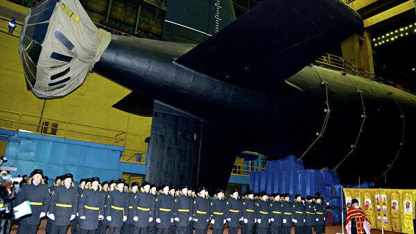 """Поринута прва серијска нуклеарна подморница пројекта """"Јасен М"""""""