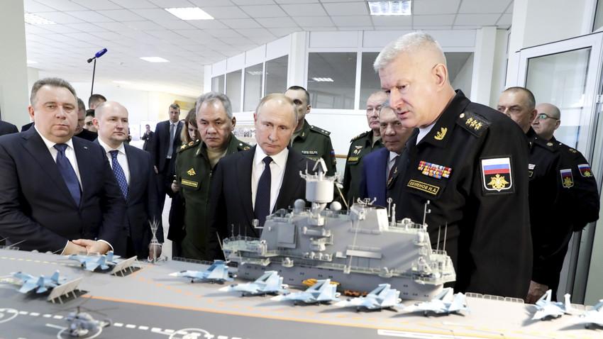 """Председнику Путину представљен пројекат носача авиона 11430Э """"Ламантин"""" и фрегате """"Гепард-3.9"""""""