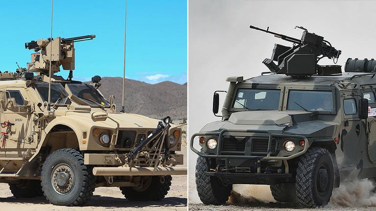 """РТ: """"Тражите проблеме?"""": Америчко оклопно возило изгурало руски џип са пута у Сирији"""